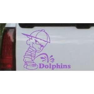 Pee On Dolphins Car Window Wall Laptop Decal Sticker    Purple 26in X