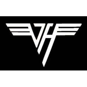 VAN HALEN VH LOGO   6 WHITE DECAL   Vinyl Sticker/Decal (Band,Group