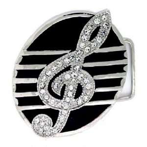 Hip Hop Bling Iced Out Music Note Belt Buckle Everything