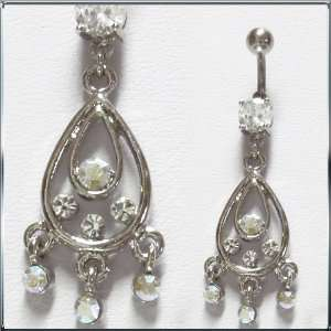 Teardrops Belly Button Navel Ring Dangle: Health