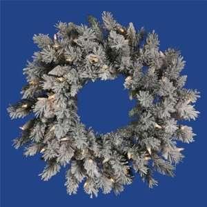 2 ft. Christmas Wreath   Classic PVC Needles   Flocked