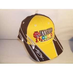 Kyle Busch 18 M&M Athlete Yellow Brown Hat: Sports