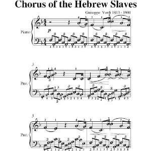 Chorus of the Hebrew Slaves Verdi Easy Piano Sheet Music: Giuseppe