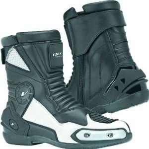 Vega 12 OClock Sport Mens Street Motorcycle Boots   Black / Size 11