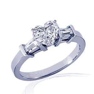 30 Ct Heart Shaped Diamond Engagement Ring 14K SI3 G COLOR CUT VERY
