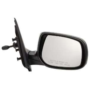 Pilot 07 10 Toyota Yaris Sedan Manual Remote Mirror Right Black Smooth