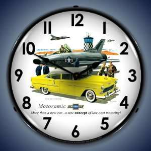 1955 Chevy Bel Air Lighted Wall Clock
