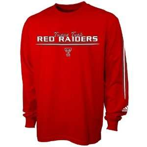 Adidas Texas Tech Red Raiders Red Team Vision Long Sleeve