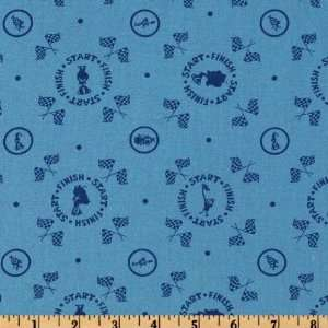 44 Wide Zoomers Racing Winners Circle Blue Fabric By The
