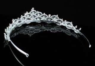 Unique Bridal Wedding Sparkling Tiara use Swarovski Crystal T1433