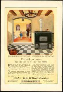 1921 Print Ad AMERICAN RADIATOR Type A Heat Machine