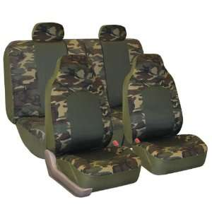 FH FB108114 Camouflage Car Seat Covers, Airbag compatible