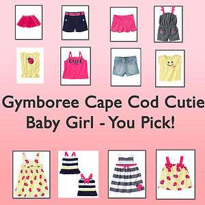 Gymboree Cape Cod Cutie Ladybug Baby Girl*NWT* You Pick 3 6 12 18 24