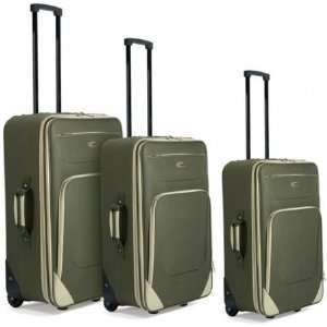 Benzi Travel Goods BZ 3498GREEN Trolley set Extendable
