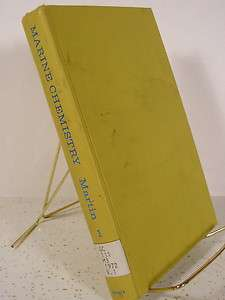 Marine Chemistry by Dean Frederick Martin (1972, Book, Illustrated