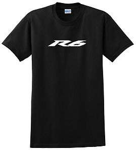YAMAHA R6 T SHIRT BLUE BLACK WHITE RED YELLOW YZF MOTORCYCLE
