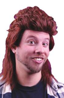 1980s Mullet Halloween Costume Wig (Brown)