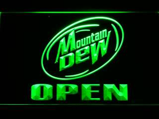 084 g Mountain Dew Beer OPEN Bar Neon Light Sign