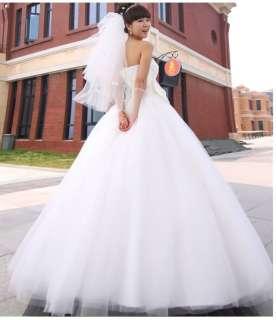 Stock Princess ball wedding bridal dress gown 2 4 6 8