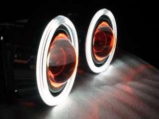 WHITE CCFL ANGEL & DEVIL EYES PROJECTOR FOG LIGHT LAMPS