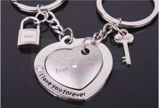 SweetyTrue Love Heart Keychain Key Chain New Gift Couple Keyring