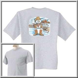Cowboy Snowman Western Snow Man Shirt S XL,2X,3X,4X,5X