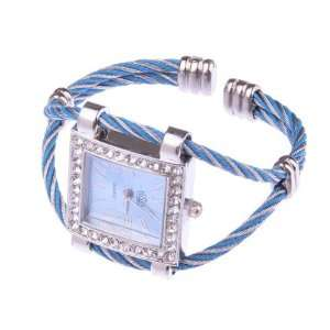 Blue Stylish Fashion Lady Women Girl Roman Numerals Dial