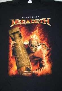 Lot 6 Metal Rock Band Shirt 80s 90s tour Led Zeppelin YES Megadeath