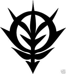 zeon logo gundam anime wall car sticker decal window