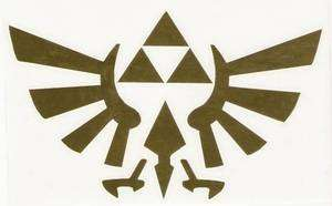TRIFORCE ZELDA LOGO VINYL DECAL STICKER NES NINTENDO N64 GAME