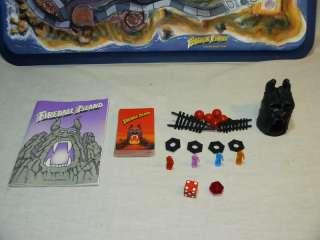 1986 FIREBALL ISLAND ADVENTURE 3D BOARD GAME   MILTON BRADLEY