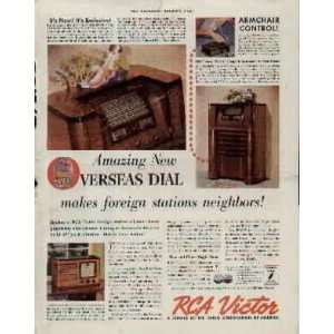 foreign stations neighbors! .. 1937 RCA Victor Radio ad, A0856