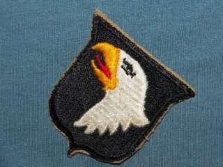 PATCH WW2 US ARMY 101ST AIRBORNE INFANTRY DIV KHAKI CUTEDGE COTTON