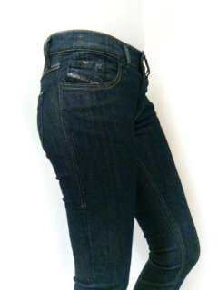 NWT Diesel Women Stretch Jeans Livy Super Skinny Legging 881K Dark