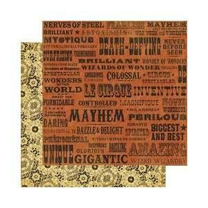 Le Cirque Double Sided Paper 12X12 Magnifique: Arts