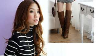 Gradient Black White Stripe Sweater Jumper Mini Dress TOP 1089