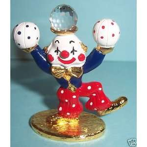 Spoontiques Pewter Painted Juggling Clown K1415