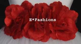 WHITE RED BRIDAL CHILDRENS FLOWER GIRL DRESS 12M 18M 2 2T 3 4 4T 5 6