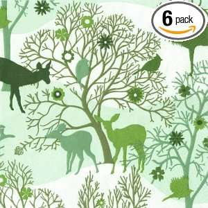 Ideal Home Range Enchanted Forest, Green Cocktail Napkin