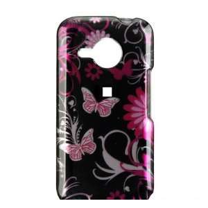 Pink Flower/Butterfly Design Hard Case for HTC Droid Eris