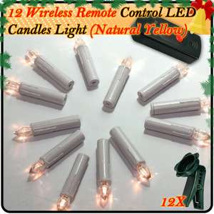 12 X Natrual Color Christmas Birthday Party Wireless Remote LED Candle