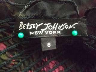DESCRIPTION :Betsey Johnson NEW YORK  Womens Black Red Rose