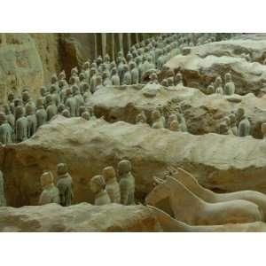 Terra Cotta Warriors and Horses Dig, Xian, Shaanxi Province, China
