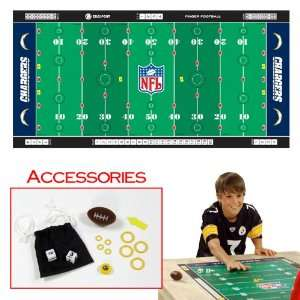 Mat   Chargers   Toys Games Finger Football NFL AFC