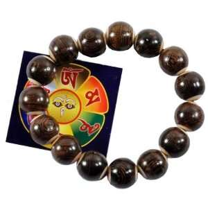 Cord Prayer Beads Wrist Mala and a Free Copyrighted Buddha Eye Magnet