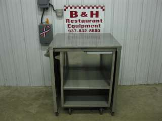 27 x 25 Stainless Steel Mobile Cabinet w/ Pull Out Cutting Board