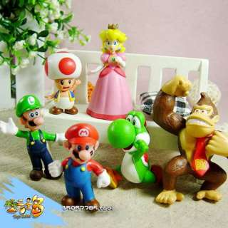 Lots 6 pcs Nintendo Super Mario Bros Action Figure New