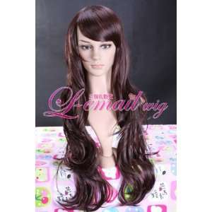 75cm X Long Dark Brown Wavy Cosplay Hair Wig Wa161 Toys