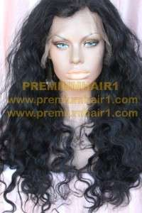 Full Lace Human Hair Indian Hair Remi Remy Wig #1 24/30 Crown Tip