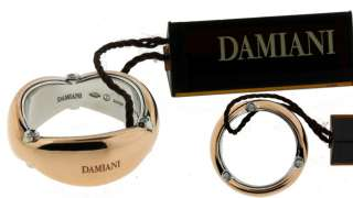 DAMIANI DIAMOND RING IN 18 KARAT WHITE & ROSE GOLD NEW IN BOX SIZE 7